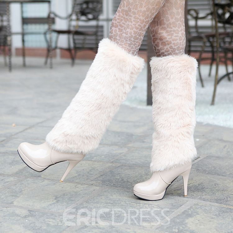European Sexy Knee High Boots with Tassels