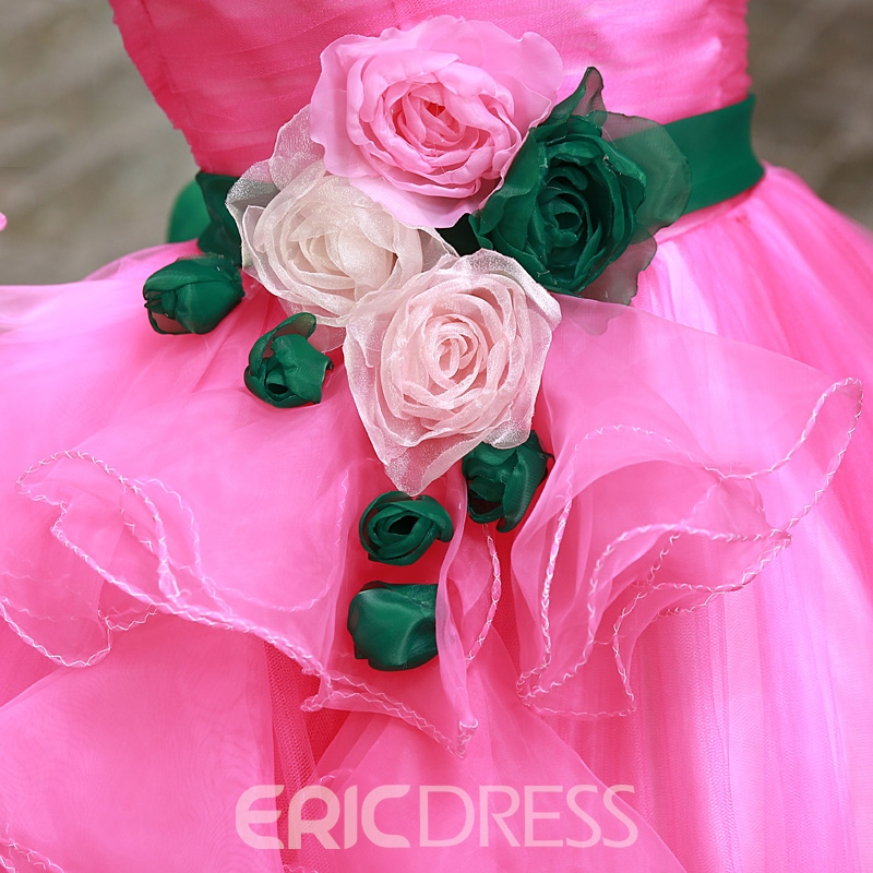 Latest Off-Shoulder Cascading Ruffles Quinceanera Dress