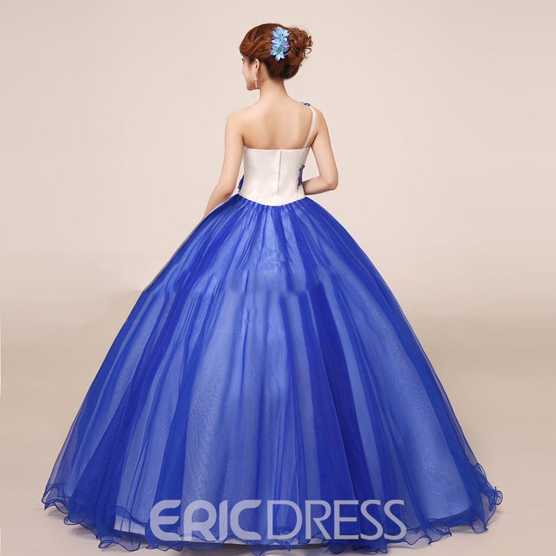 Classy One Shoulder Ball Gown Quinceanera Dress