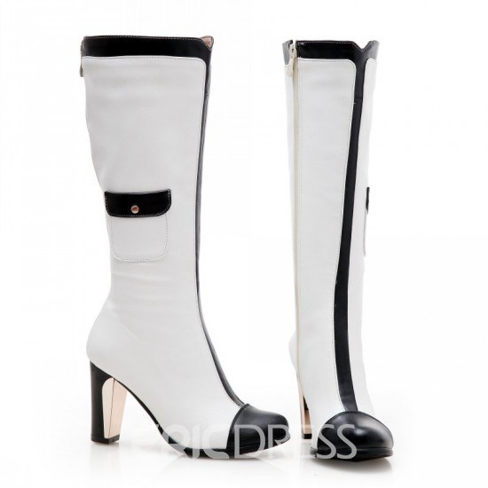 Vogue Patchwork Knight Knee High Boots