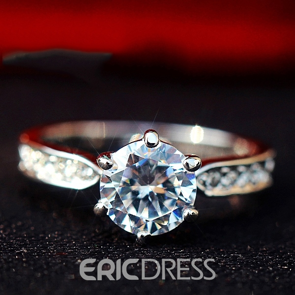 2 Carat 6 Ungual Simulation Diamond Ring