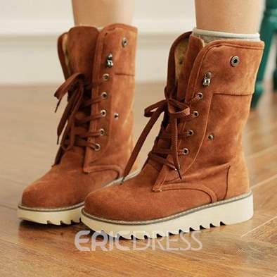 Ericdress Winter Cross Strap Plain Women's Snow Boots