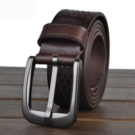 Ericdress Plaid Embossed Men's Belt