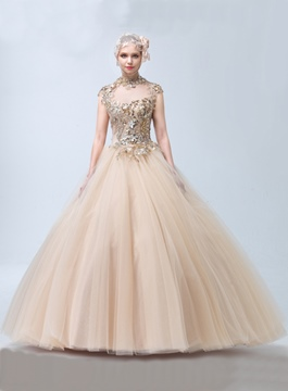 Ericdress Luxus Juwel Neck Ball Gown Quinceanera Kleid