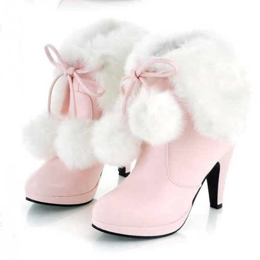 Ericdress Sweet Furry Tassels High Heel Boots