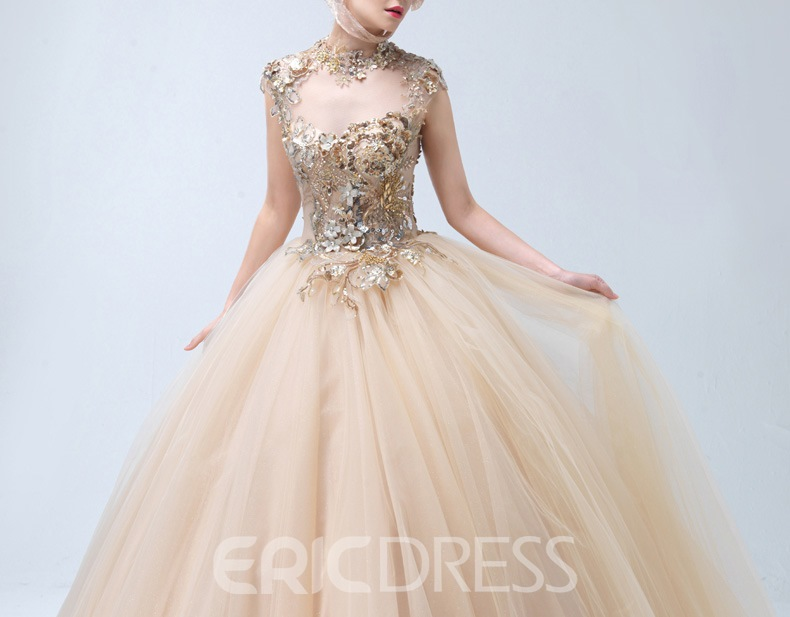Ericdress Luxury Jewel Neck Ball Gown Quinceanera Dress