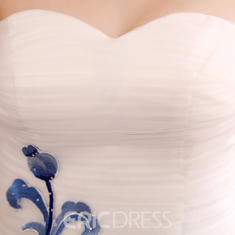 Sweetheart Embroidery Mermaid/Trumpet Evening Dress