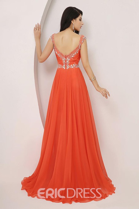 Attractive Beaded Sleeveless A-Line Prom Dress