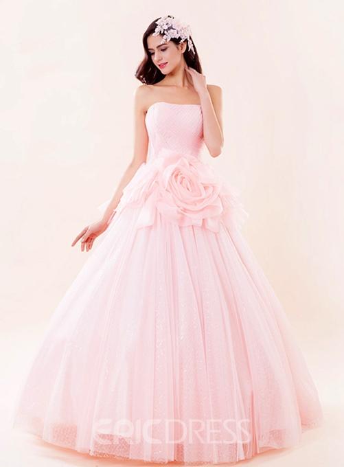 Ericdress Dramatic Strapless Lace-Up Quinceanera Dress