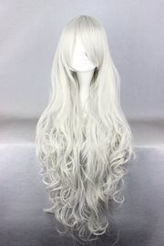 Ericdress Super Long Curly White Synthetic Hair Cosplay Wigs