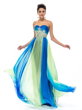 Sweetheart Ruffles A-Line Floor-Length Prom Dress