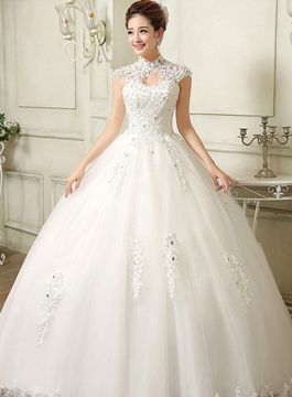 Ericdress Cap Sleeves Ball Gown Wedding Dress