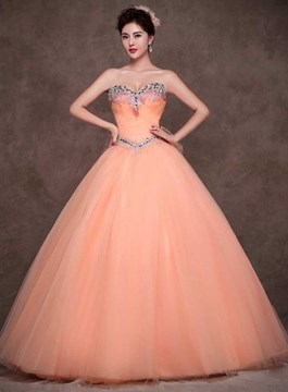Exquisite Sweetheart Ball Gown Tulle Quinceanera Dress 141586a01e09