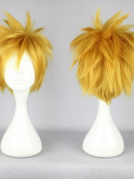 Ericdress Short Spiky Straight Golden Synthetic Hair Cosplay Wigs