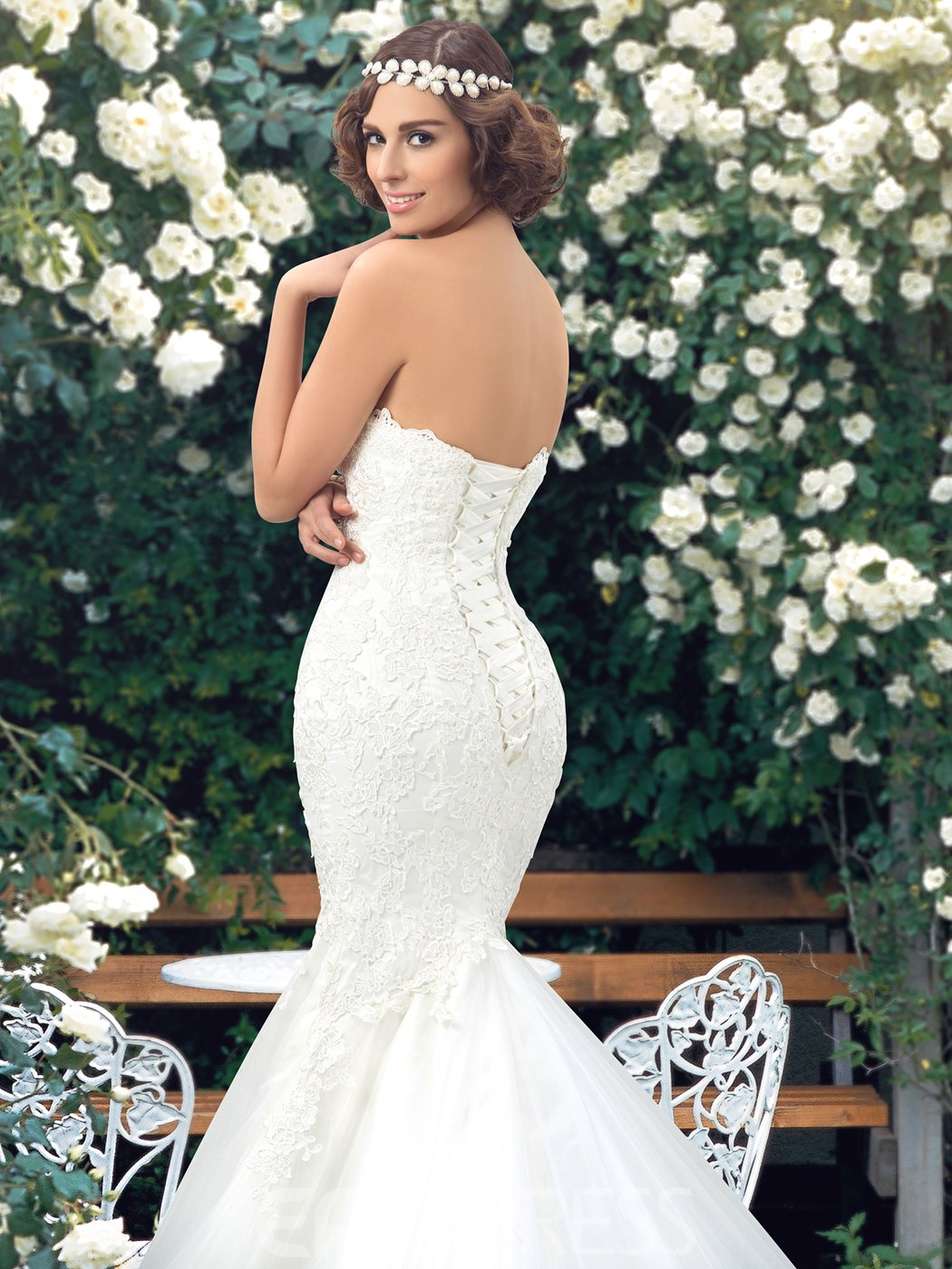 Sexy Sweetheart Applique Mermaid Wedding Dress
