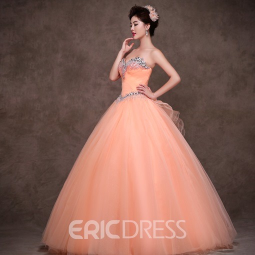 Exquisite Sweetheart Ball Gown Tulle Quinceanera Dress