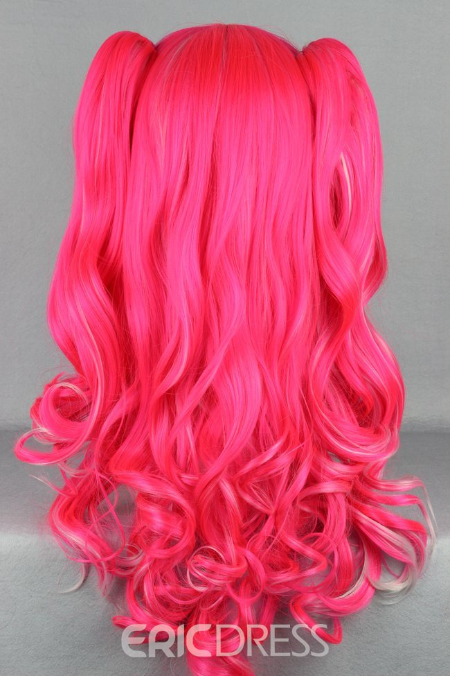 Ericdress Lolita Style Pink Color Cosplay Wigs 28 Inches
