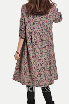 Ericdress Floral Print Casual Dress