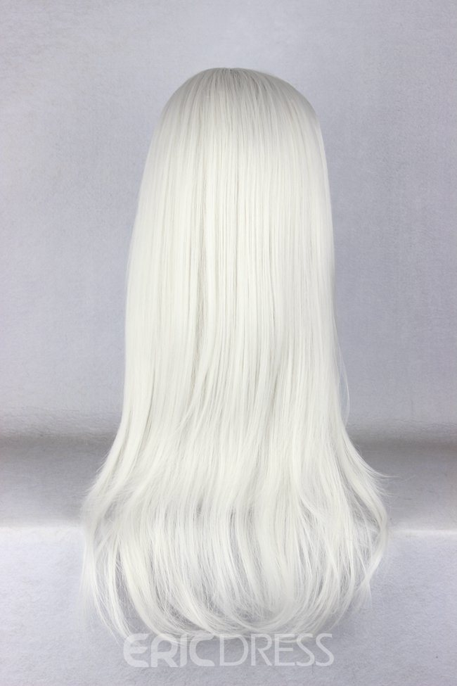 Ericdress Japanese Sephiroth Style Long Straight White Cosplay Wigs 22 Inches