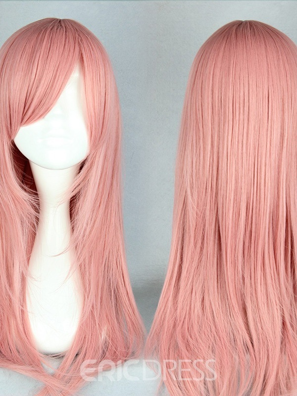 Ericdress Japanese Middle Straight Rose Pink Cosplay Wigs 22 Inches