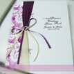 Romantic Purple Loving Heart Wedding Guest Book