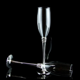 Luxurious Crystal Theme Toasting Flutes(Set of 2)