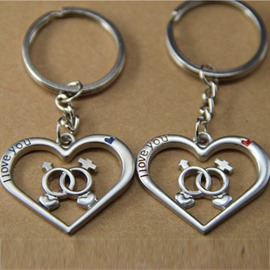 Romantic I Love You Couples Keychains