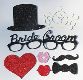 Mr. & Mrs. Sponge Photo Booth Props