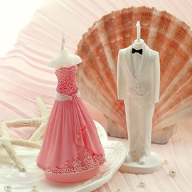 Ericdress Romantic Bridal and Bridegroom Wedding Candle