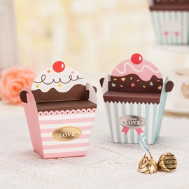 Reversible Stripe Wrap Favor Boxes