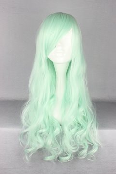 Ericdress Japanese Lolita Style Long Wave Light Green Color Cosplay Wigs 28 Inches