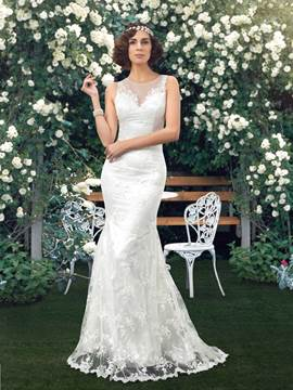 Classy Lace Mermaid Wedding Dress