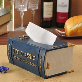Noble Vintage Book Shape Resin Tissue Box