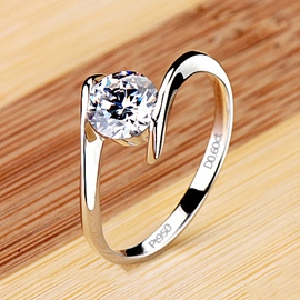 Ericdress Forever Love White Sapphire Created Wedding Ring