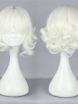 Ericdress Japanese Lolita Style Short Wave White Color Cosplay Wigs