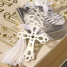 Wedding Favor Cross Shape Bookmark