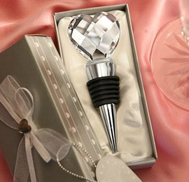 Heart-Shaped Crystal Ball Top Bottle Stoppers