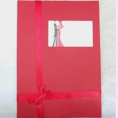 Red Wedding Guest Book With Bowknot
