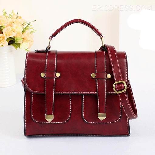 Retro Preppy Shoulder Bag for Women