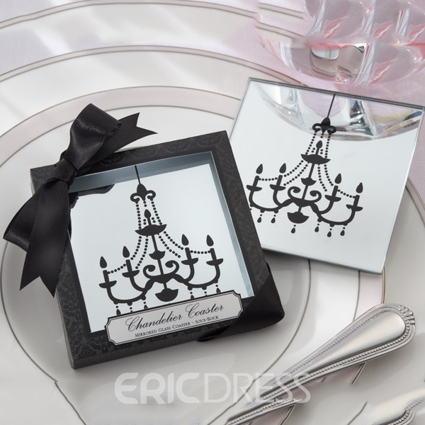 Adorable Wedding Favor Mirror Droplight Cup Mat Ericdress