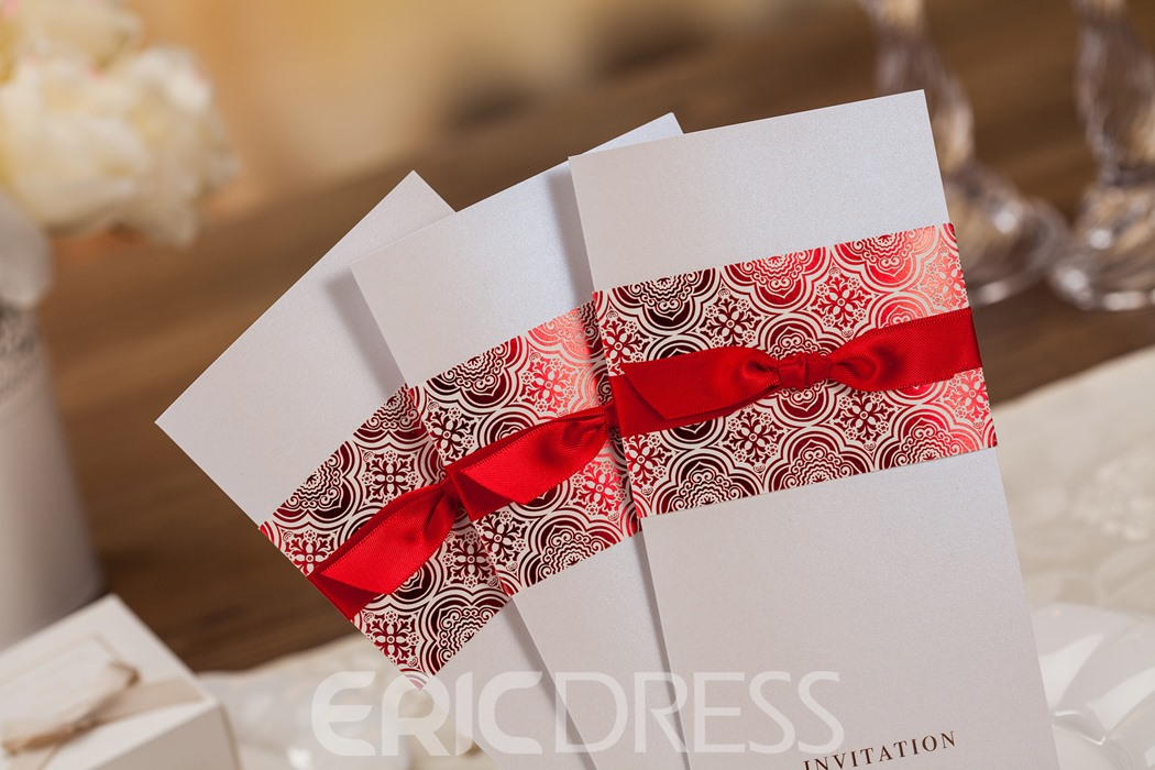 Formal Design Wrap & Pocket Invitation Cards (20 Pieces One Set)