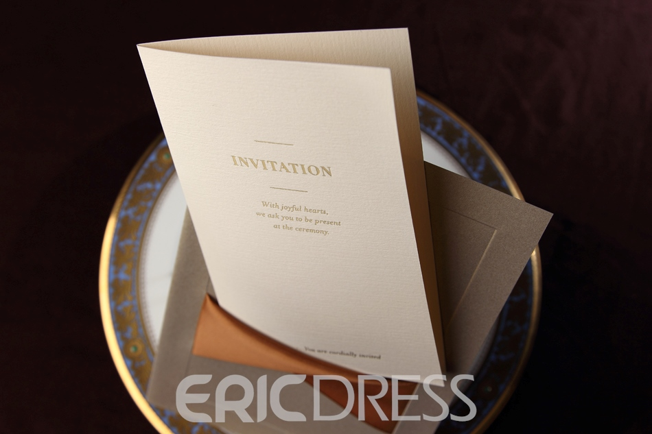 Flat Card Invitation Cards With Ribbons (20 Pieces One Set)