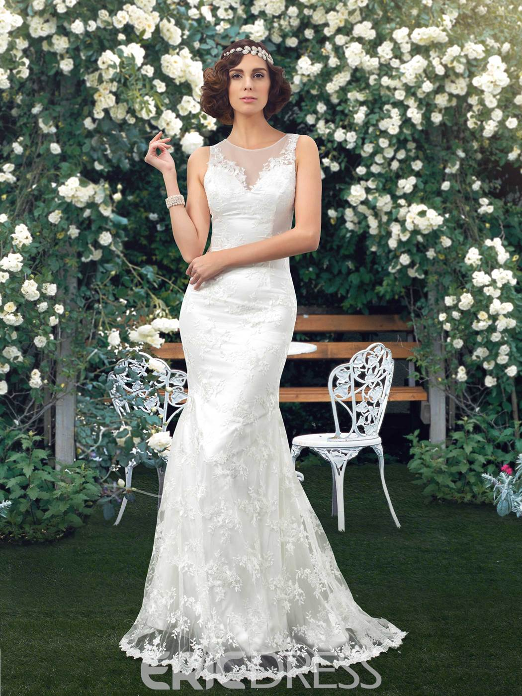 67c01d109b8e Classy Lace Mermaid Wedding Dress 11217945 - Ericdress.com