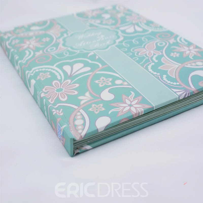 Thickening No Horizontal Blue Wedding Guest Book