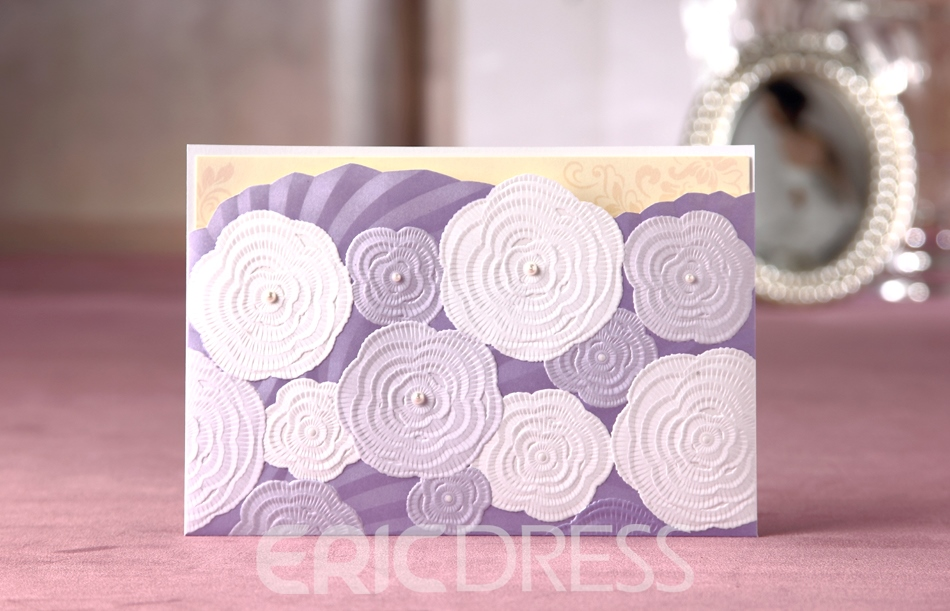 Classic Design Side Fold Invitation Cards (20 Pieces One Set)