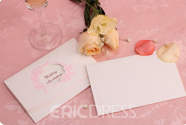 Concise Hollow Out Wedding Invitation (20 Pieces One Set)