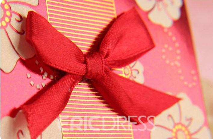 High Quality Bowknot Wedding Invitation Cards (20 Pieces One Set)