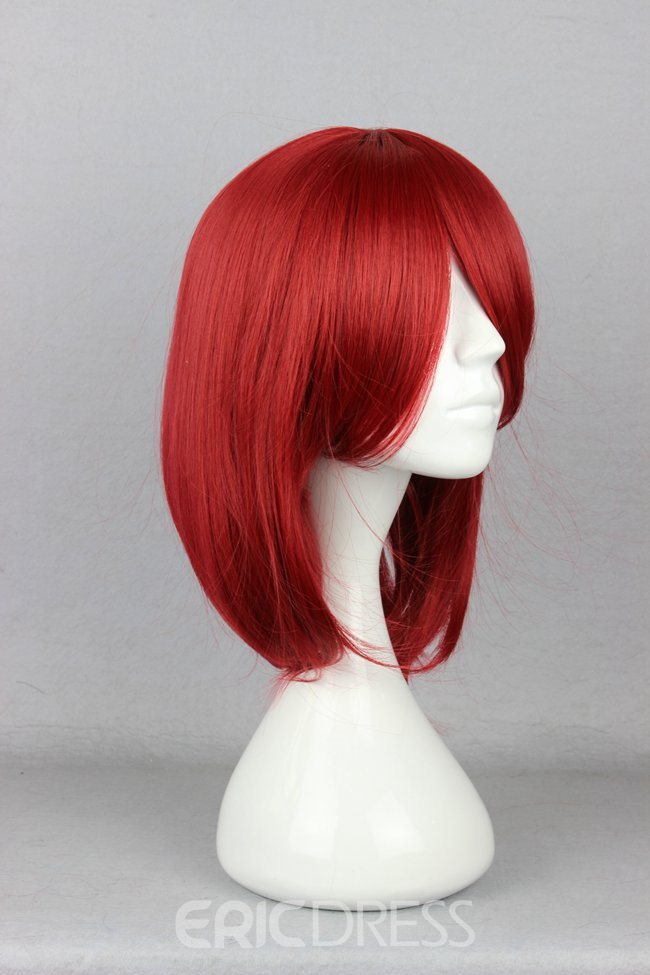 Ericdress Black Butler Hairstyle Long Straight Red Cosplay Wig 14 Inches