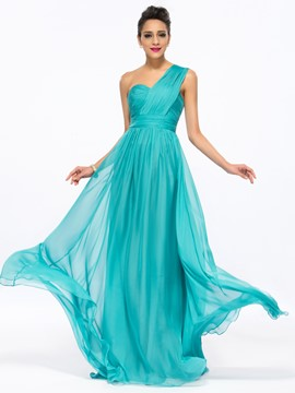 Epidemic A-Line One-Shoulder Long Prom Dress