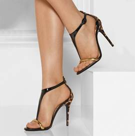 Ericdress PU Leopard T-Straps Open Toe Stilettos Sandals